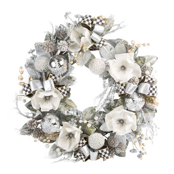 Silver Shimmer Wreath - Large