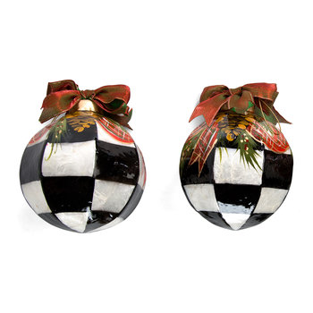 Evergreen Ball Tree Decorations - Set of 2