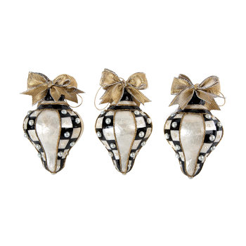 Teardrop Pearl Tree Decorations - Set of 3