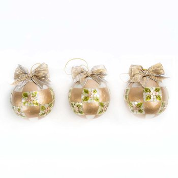 Pinecone Ball Tree Decorations - Set of 3 - Gold