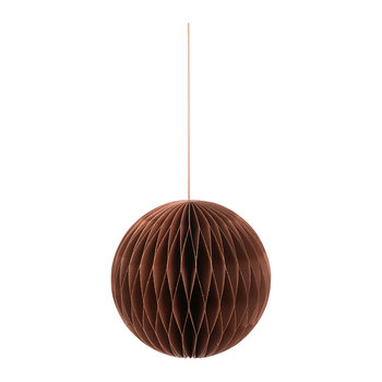 Paper Honeycomb Ball Decorative Ornament - Copper