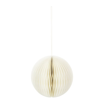 Paper Honeycomb Ball Decorative Ornament - Ivory
