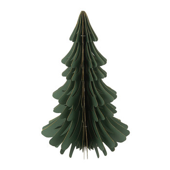 Paper Christmas Tree Decorative Ornament - Forest Green