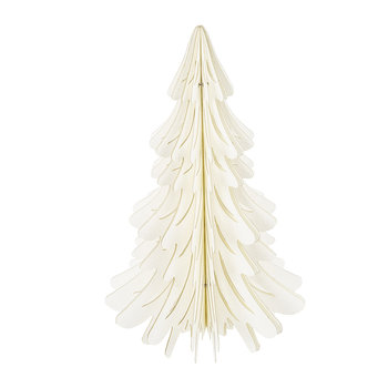 Paper Christmas Tree Decorative Ornament - Ivory