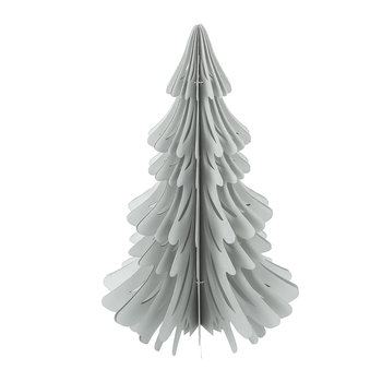 Paper Christmas Tree Decorative Ornament - Metallic Silver