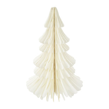 Large Paper Christmas Tree Decorative Ornament - Ivory