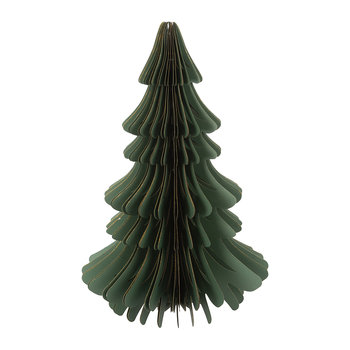 Large Paper Christmas Tree Decorative Ornament - Forest Green