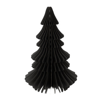 Large Paper Christmas Tree Decorative Ornament - Black