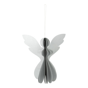 Paper Angel Decorative Ornament - Metallic Silver