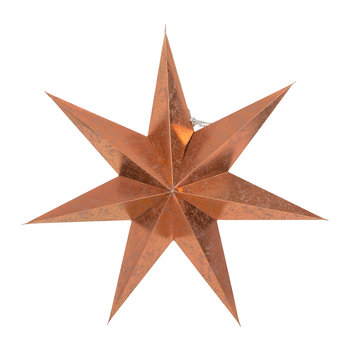 Paper Star Decorative Ornament - Copper