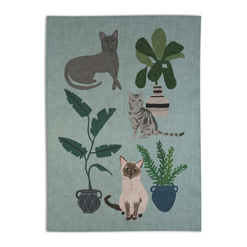 Anne Bentley Cats & Dogs Tea Towel - Cats