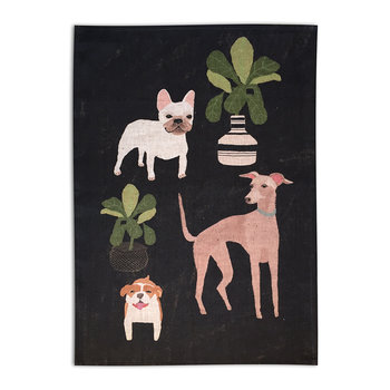 Anne Bentley Cats & Dogs Tea Towel - Dogs
