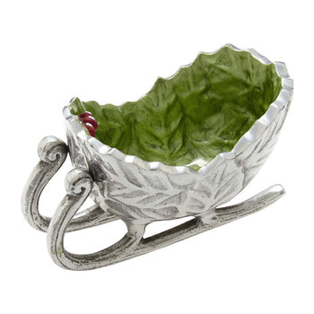 Holly Sprig Sleigh Bowl - Mojito
