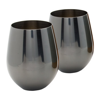 Luxe Stainless Steel Tumblers - Set of 2 - Gunmetal