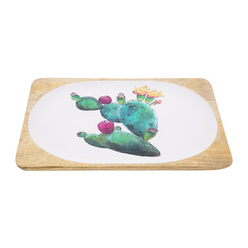 Cactus Rectangular Tray - Small - White