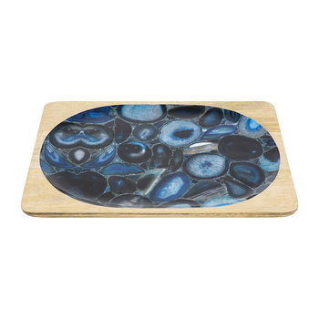 Agate Rectangular Tray - Small - Blue