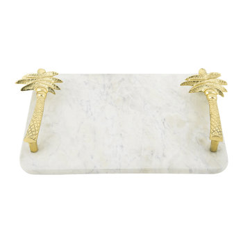 Marble Palm Tree Serving Board
