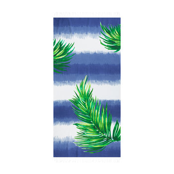 Borabora Beach Towel - Indigo/Palm Green