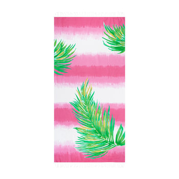 Borabora Beach Towel - Pink/Palm Green/Yellow