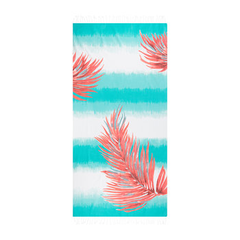 Borabora Beach Towel - Lagoon/Palm Coral