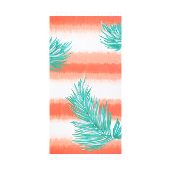 Borabora Beach Towel - Coral/Jade Green