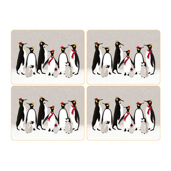 Christmas Penguin Placemats - Set of 4