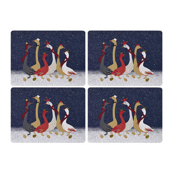 Christmas Geese Placemats - Set of 4