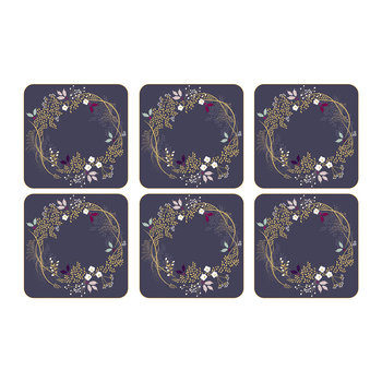Christmas Garland Coasters - Set of 6