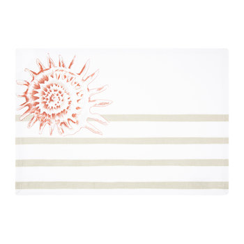 Riva Placemat - Coral/Natural