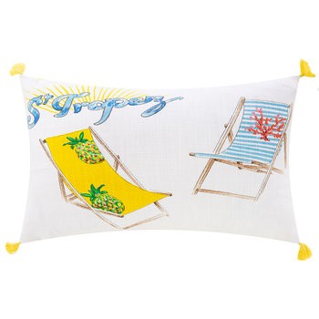 Tropicana Cushion - 30x50cm - Summer Yellow/Blue
