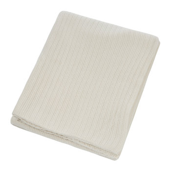 Knitted Rib Throw - Natural