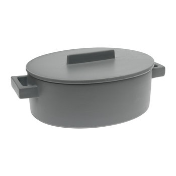 Terra.Cotto Oval Casserole Pot - 30x25cm - Pepper