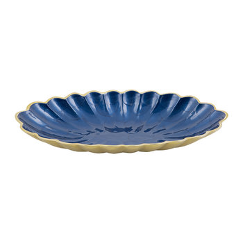 Peony Oval Bowl - Gold Sapphire