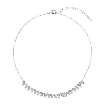 Eada Princess Sparkle Necklace - White Bronze