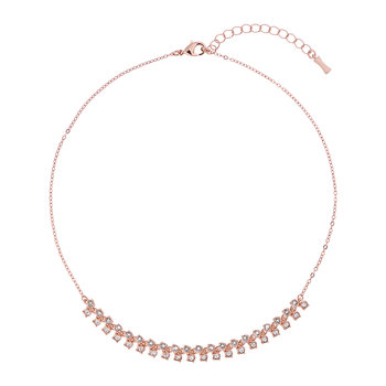 Eada Princess Sparkle Necklace - Rose Gold