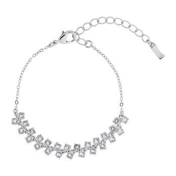 Edolii Princess Sparkle Bracelet - White Bronze