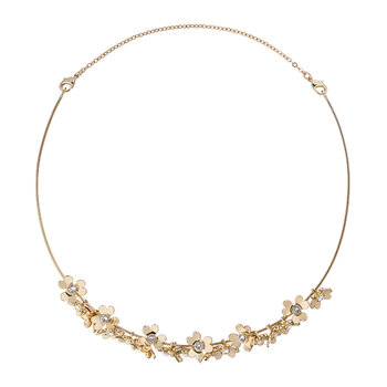 Hadriaa Heart Blossom Necklace - Pale Gold