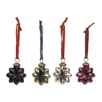 Talu Star Baubles - Set of 4