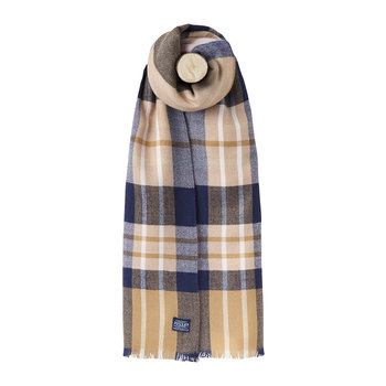 Berkley Knitted Scarf - Camel Check