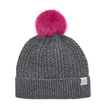 Cable Knit Bobble Hat - Dark Gray