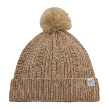 Cable Knit Bobble Hat - Oatmeal
