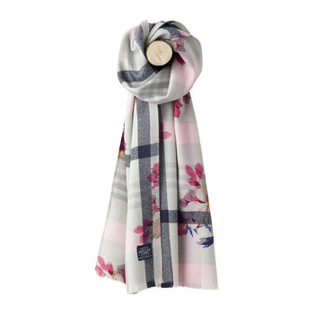 Bracken Printed Woven Scarf - Bircham Bloom Check