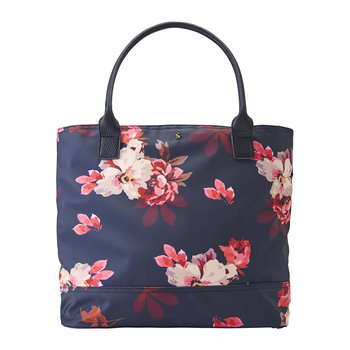 Cariwell Canvas Shoulder Bag - French Navy Bircham Blossom