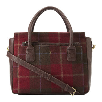 Day To Day Tweed-Schultertasche - Rot karierter Tweed