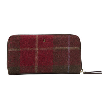 Fairford Tweed Purse - Red Check
