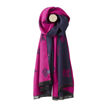 Jacquelyn Animals Scarf - Ruby Pink