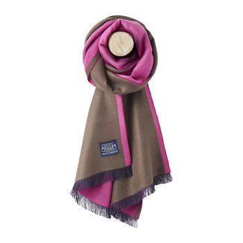 Luxton Knitted Scarf - Raspberry Rose