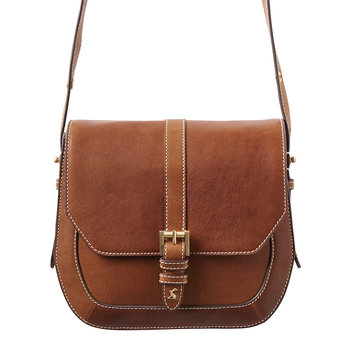 Leather Saddle Bag - Tan
