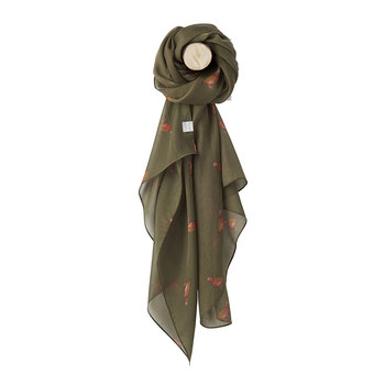 Wensley Scarf - Grape Leaf Partridge