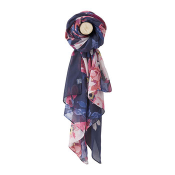 Wensley Scarf - Navy Bircham Bloom Border